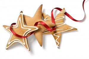 Christmas biscuits Client winners of cash prize