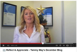 Tammy May's December 2012 vlog: Reflect on your 2012 achievements