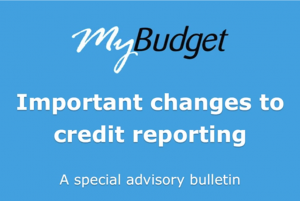 Changes to credit reporting