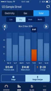 The AGL Energy mobile app allows you to monitor your power usage.